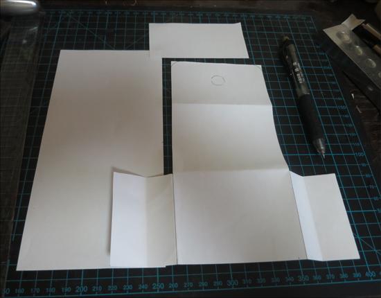 レザークラフト型紙