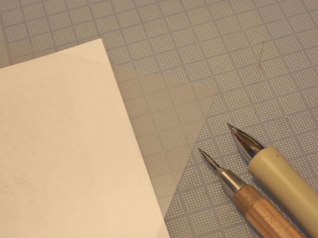 紙とペンとトレペと鉄筆